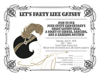 LET'S PARTY LIKE GATSBY