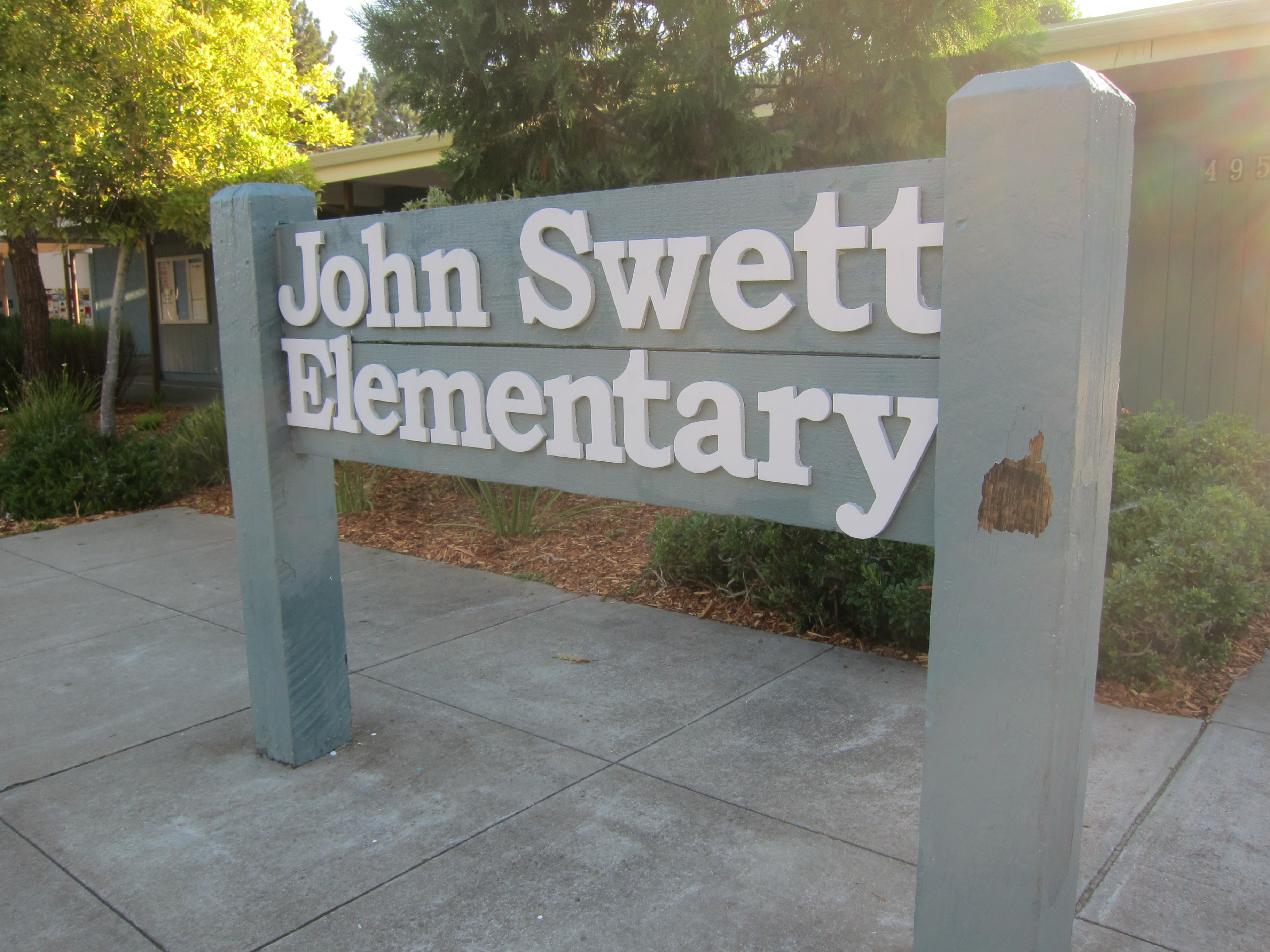 Image of the John Sweet Elementary school sign.