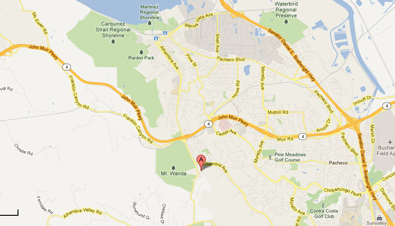 Image of the map location for John Swett School.