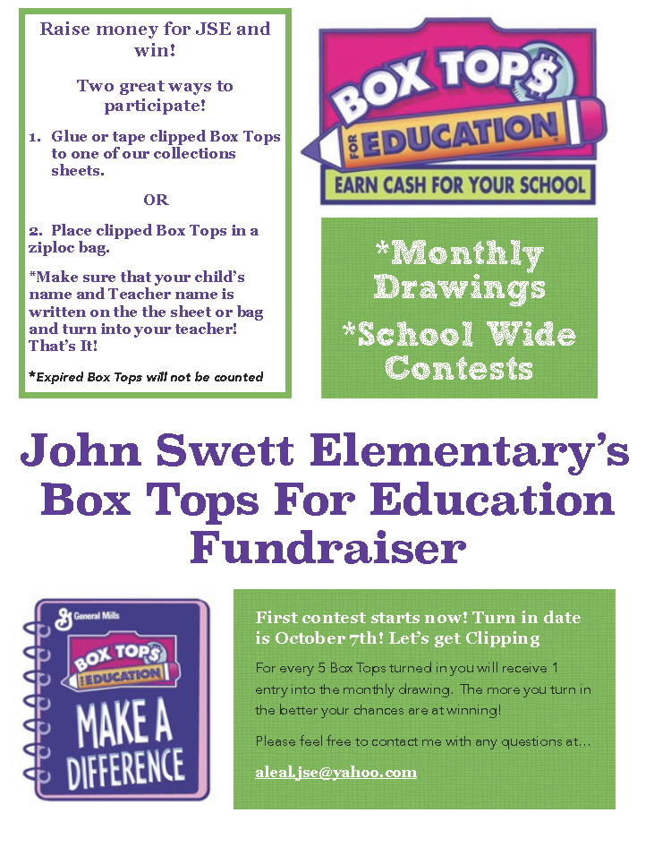 Image of the Box Tops logo - Raise money for schools.